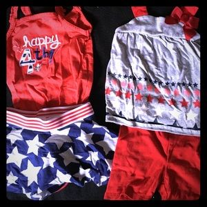 Other - Toddler girls July 4th outfits